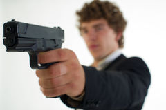 Man with the gun Royalty Free Stock Photography