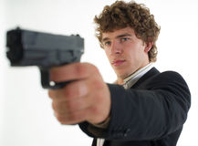 Man with the gun Stock Images