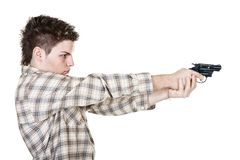 Man and gun Stock Images
