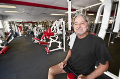 Man in gym Stock Images