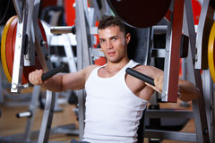 Man at the gym Royalty Free Stock Photos