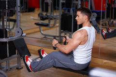 Man at the gym Royalty Free Stock Images