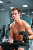 Man in a gym Stock Photo