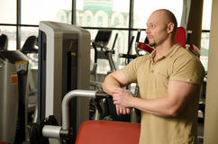 Man at the Gym Stock Photos