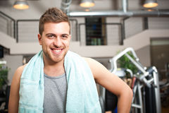 Man in the gym Royalty Free Stock Photo