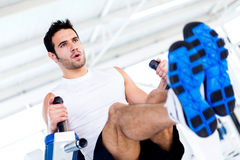 Man at the gym Stock Photography