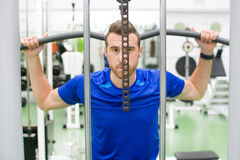 Man in gym Stock Image