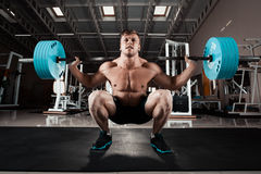 Man at the gym. Stock Photos
