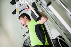Man in gym Stock Photos