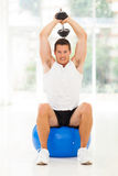 Man gym exercising Stock Photo