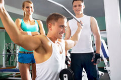Man at the gym. Fitness Stock Photography