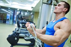 Man in gym Royalty Free Stock Images