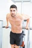 Man at the gym Royalty Free Stock Image
