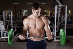 Man at the gym. Stock Images