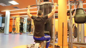 Man at the gym stock footage
