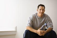 Man at gym portrait stock image