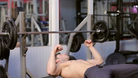Man In The Gym Ready To Exercise. Athletic sport lifestyle stock footage