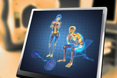 Man in gym room radiography Royalty Free Stock Photography