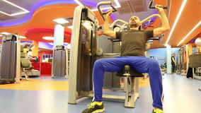 Man at the gym stock video footage