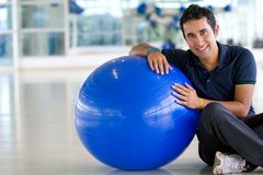 Man at the gym smiling Royalty Free Stock Images