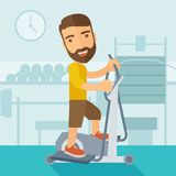 Man in gym sport workout exercises Royalty Free Stock Photography