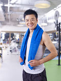 Man in gym Royalty Free Stock Photos
