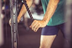 Exercising. Close up. stock images