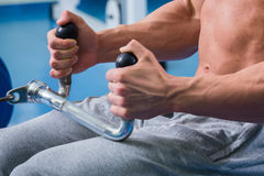Man in the gym Royalty Free Stock Photography