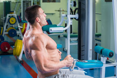 Man in the gym Stock Images