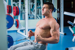 Man in the gym Stock Photography