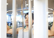 Man gym workout Royalty Free Stock Photo