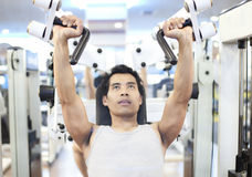 Man gym workout Stock Photo