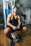 Man in gym Royalty Free Stock Photography
