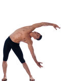 Man gymnastic  stretching posture Royalty Free Stock Images