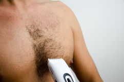 Man haircut pubic hair Royalty Free Stock Photo