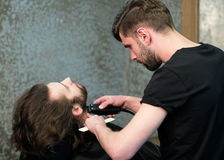 Man at the hairdressing salon Stock Image