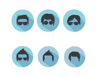 Man hairstyle element icon vector illustration. Design royalty free illustration