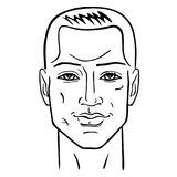 Man hairstyle head Royalty Free Stock Images