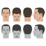 Man hairstyle head set Royalty Free Stock Photos