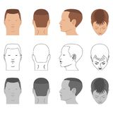 Man hairstyle head set Stock Images