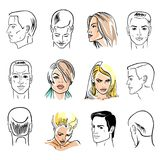 Man hairstyle head set Royalty Free Stock Image
