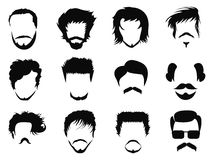 Man hairstyle vector Royalty Free Stock Images