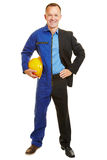 Man half as worker and business manager Stock Photo