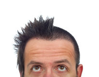 Man with half of hair cut Royalty Free Stock Photography