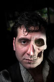 Man Half Skull Stock Image