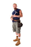 Man with hammer Stock Photos