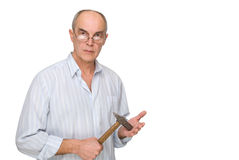 Man with a hammer Royalty Free Stock Photo