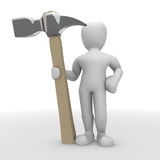 Man with a hammer Royalty Free Stock Photography