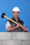 Man with hammer Stock Photo