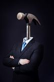 Man with Hammer Head Royalty Free Stock Images